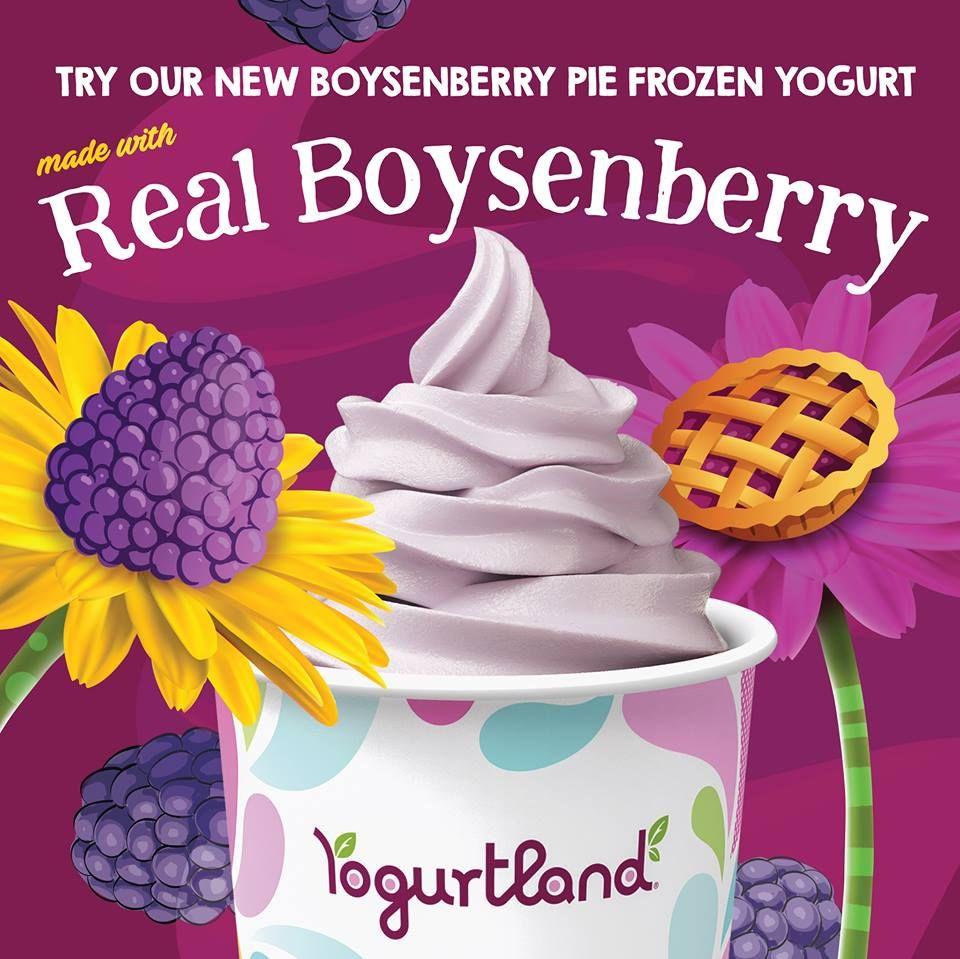 Yogurtland Swirls Up New Knott's Berry Farm Boysenberry Pie Frozen Yogurt