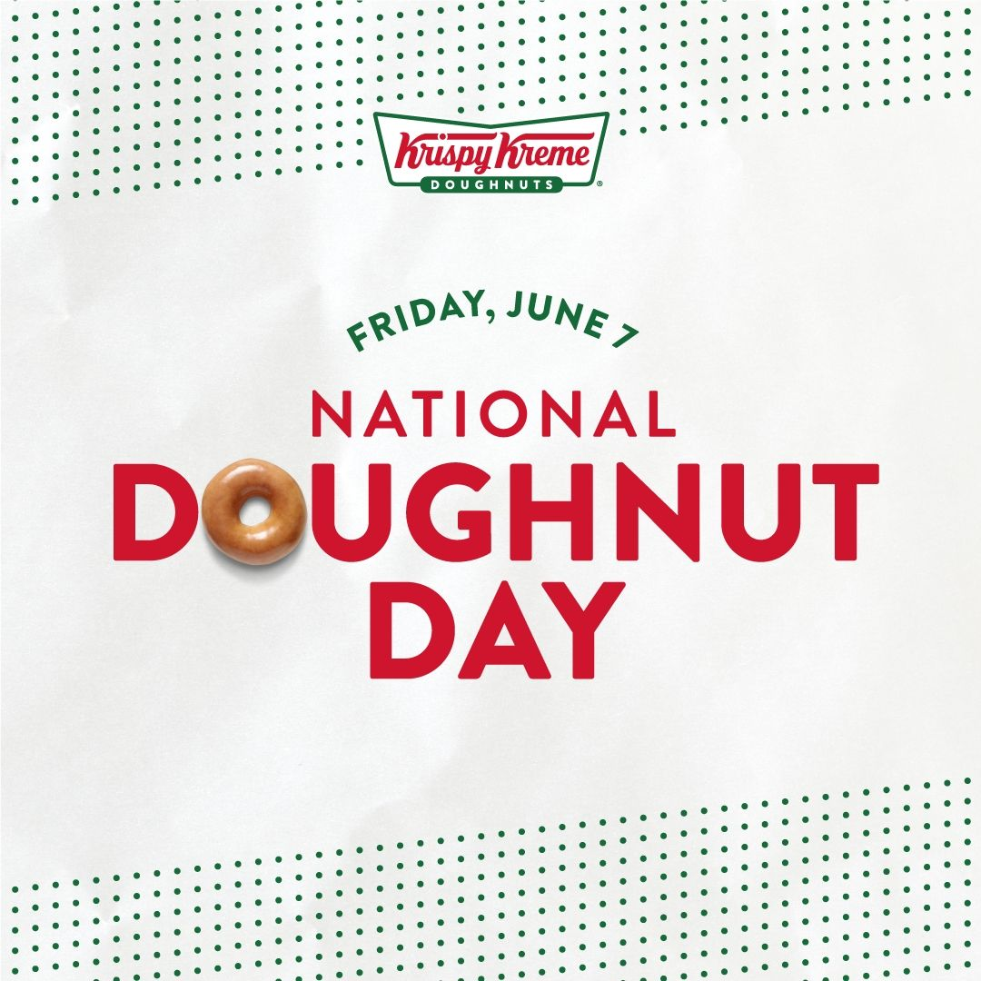 KRISPY KREME Issues Sweet National Doughnut Day Challenge: Help Us Give Away 1 Million FREE Doughnuts and Unlock a 2nd FREE Doughnut
