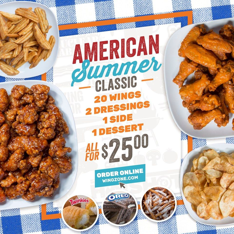 Wing Zone Launches American Summer Classic Deal