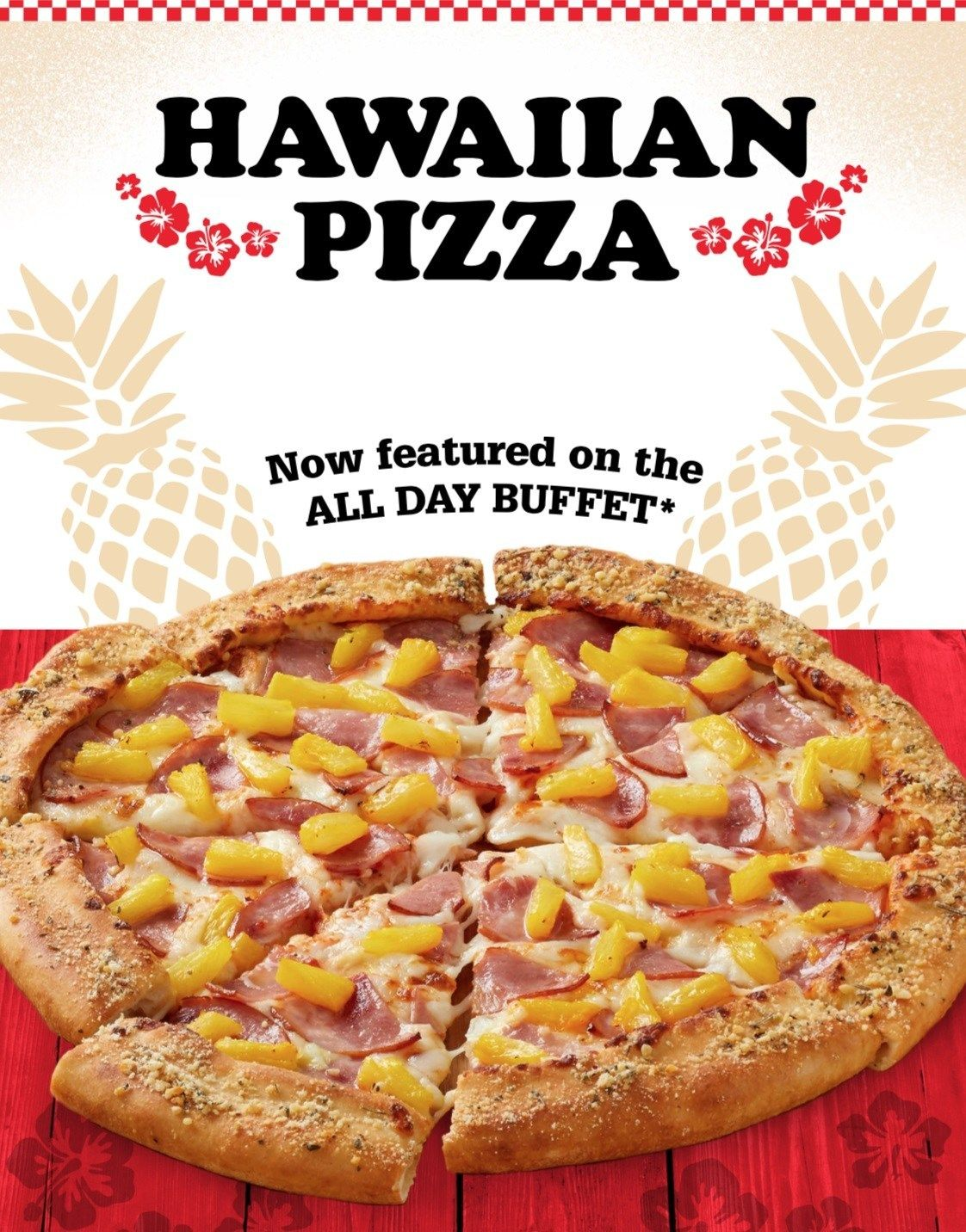 Say Aloha to Hawaiian Pizza at Pizza Inn