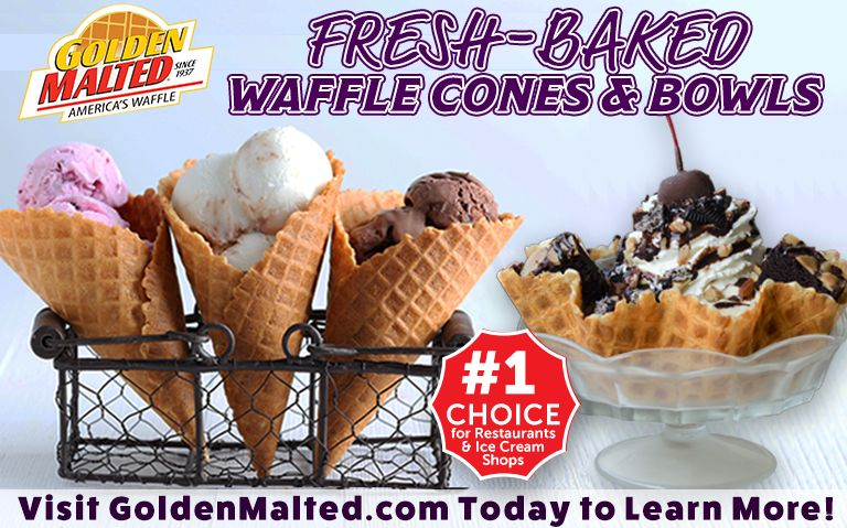 Add Fresh-Baked Waffle Cones & Bowls to Your Menu -  It's Easy with Golden Malted