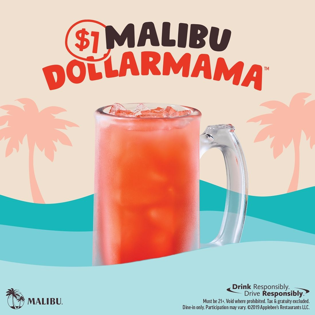 Get Your Drink on This Summer With Applebee's Malibu DOLLARMAMA