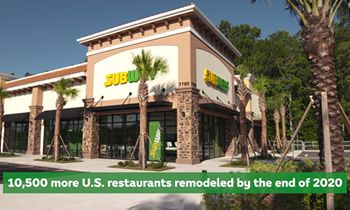 Subway Restaurants to Expand its New Look to Nearly Half of its U.S. Restaurants by the end of 2020