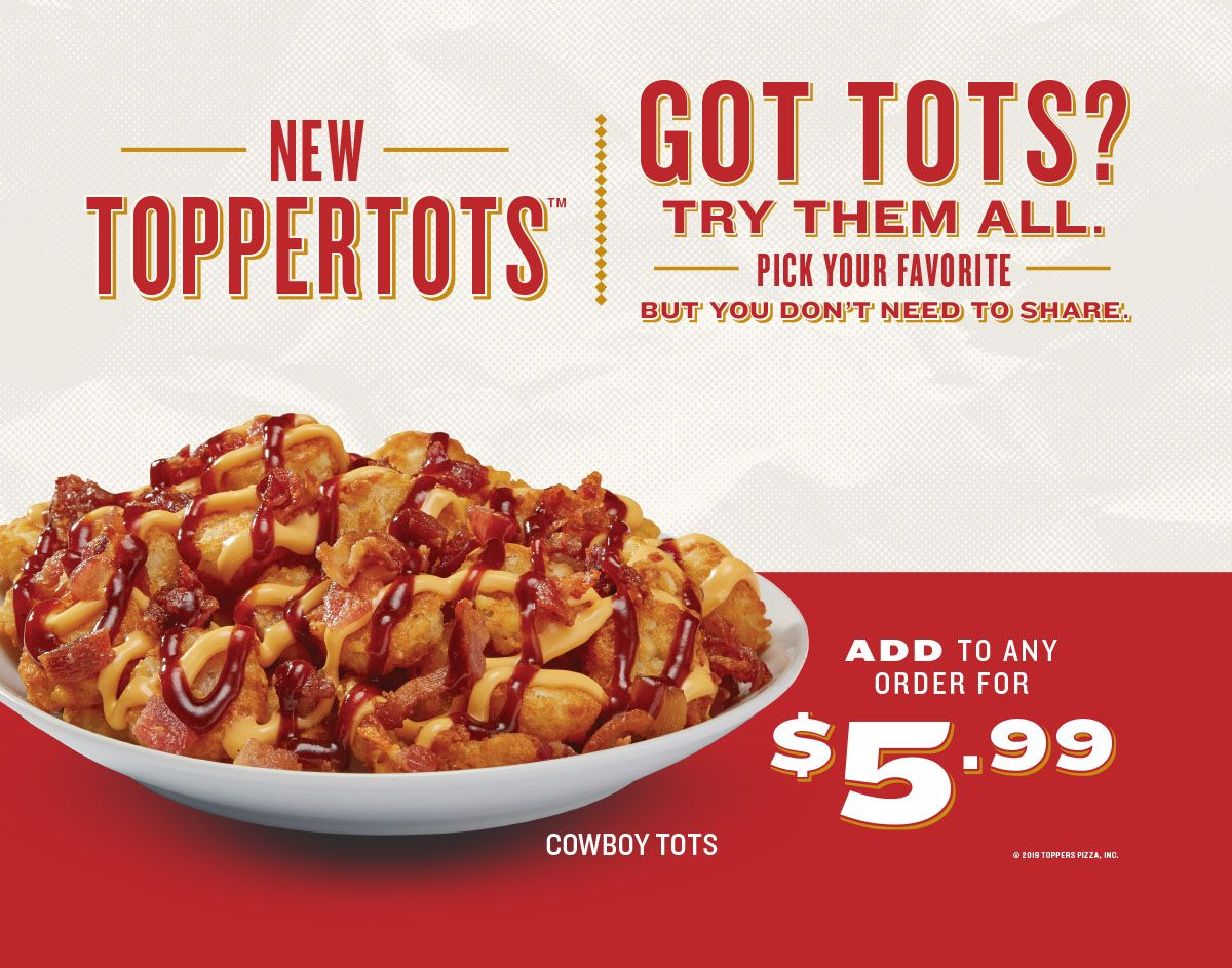 Toppers Pizza Doubles Down on Menu Innovation with New TopperTots