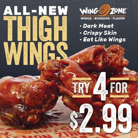 Wing Zone Introduces Thigh Wings Systemwide