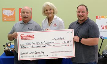 Freddy's National Frozen Custard Day Promotion Raises $15,000 For The Kids in Need Foundation