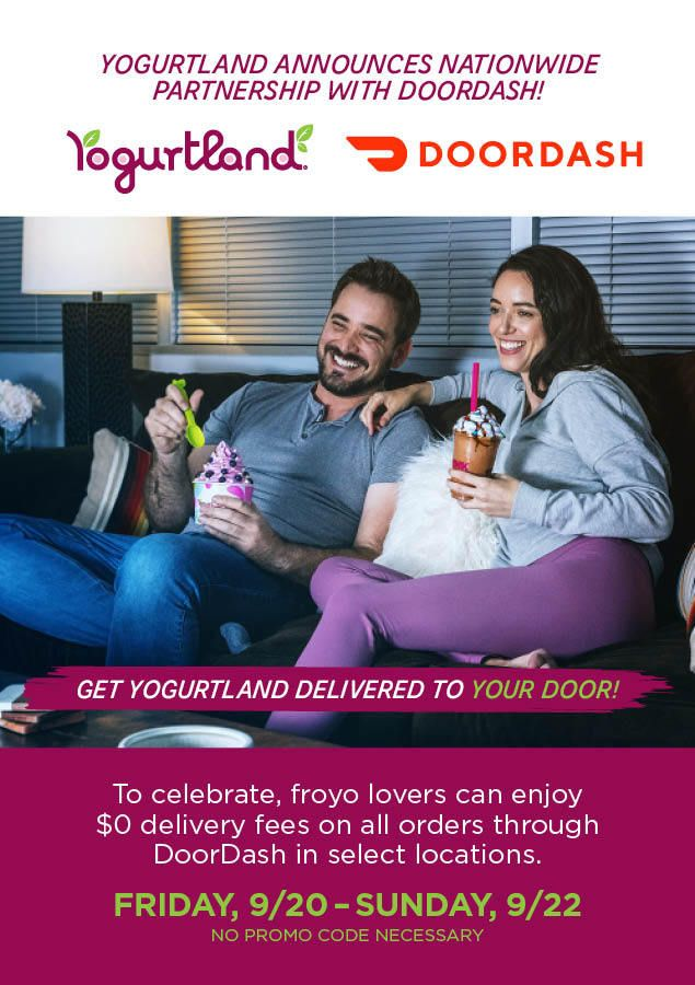 Yogurtland Announces Nationwide Partnership with DoorDash