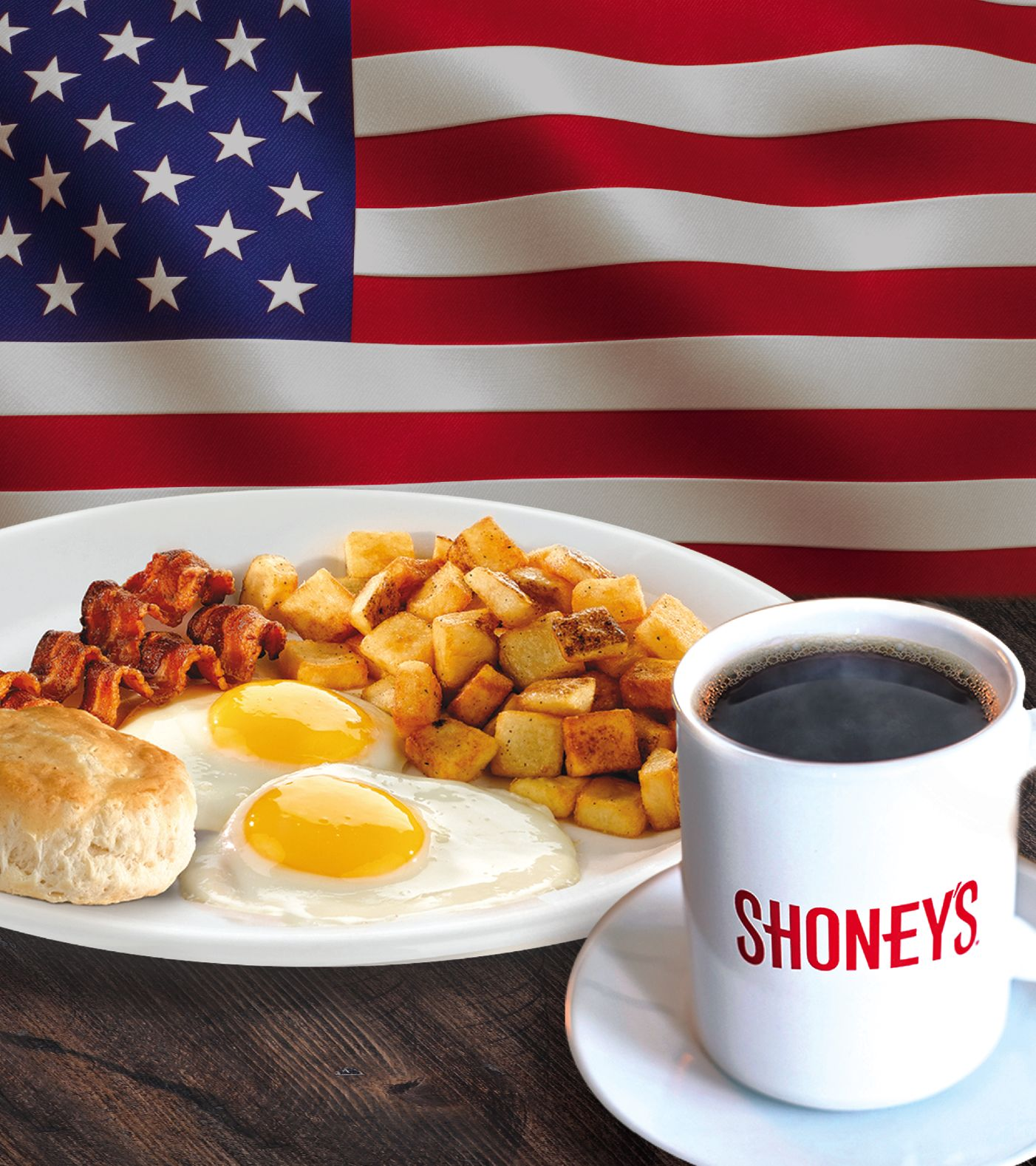 Shoney's Offers FREE All You Care To Eat, Freshly Prepared BREAKFAST BAR for Military on Veterans Day When the Heroes' Holiday is Being Observed - Monday, November 11, 2019