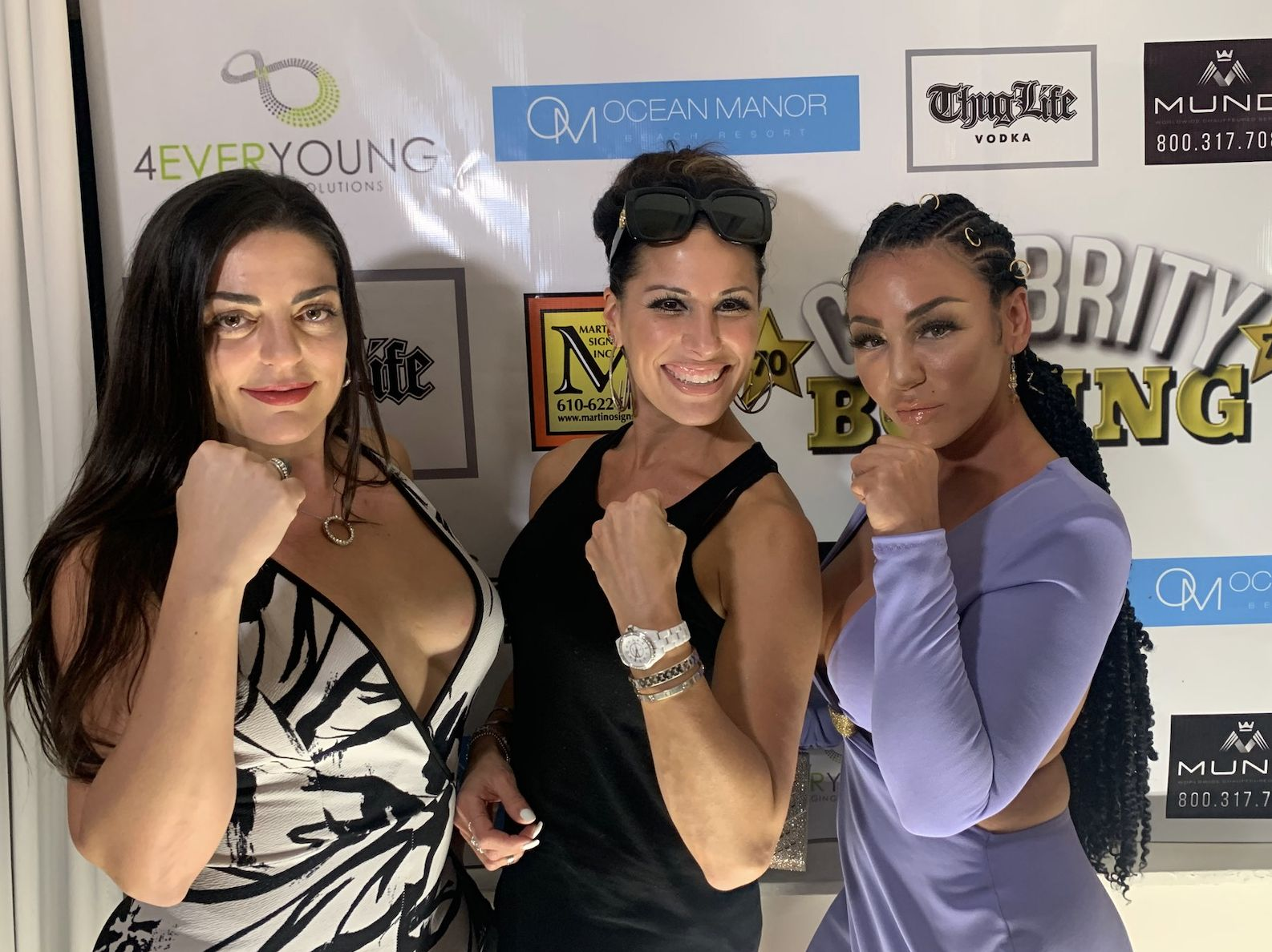 Pictured from left to right: Christine Curran from Dining Divas, Michele DiMeo, owner of Tuscan Prime, and Natalie DiDonato AKA Nat D, VH1 Mob Wives Star.