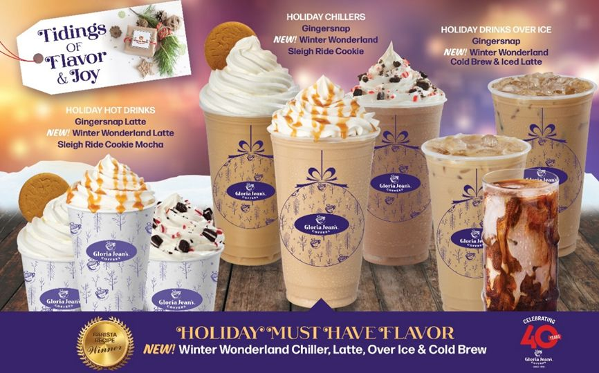 Gloria Jean's Coffees' Holiday Menu Will Have Guests Walking in a Winter Wonderland!