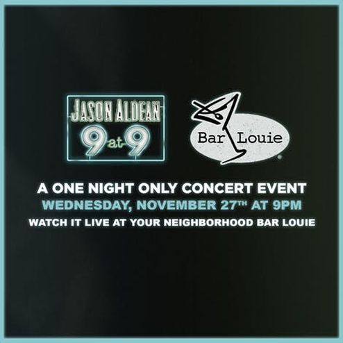 """Jason Aldean Throws Down For New Album With """"9 At 9"""" Special During Biggest Bar-Hopping Night Of The Year, Nov. 27"""
