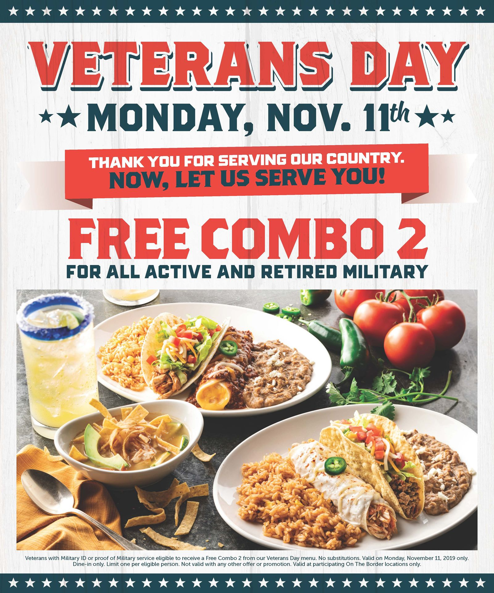 On The Border Honors America's Heroes with Free Combo Meal