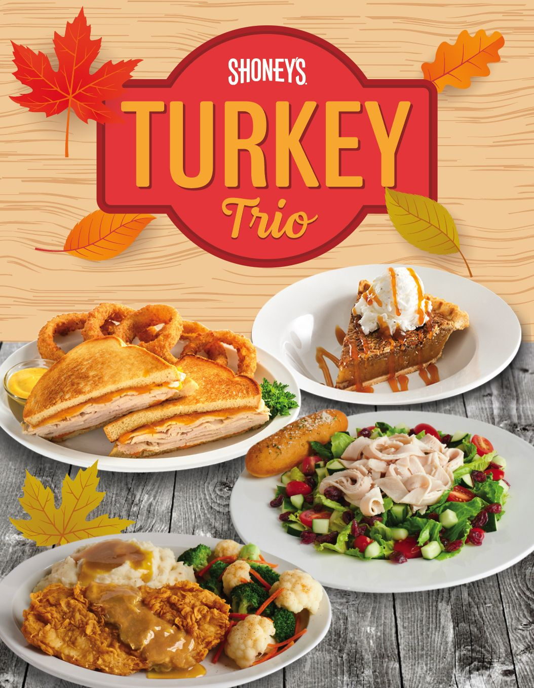 Shoney's Kicks Off Holiday Season with its Turkey Trio Promotion