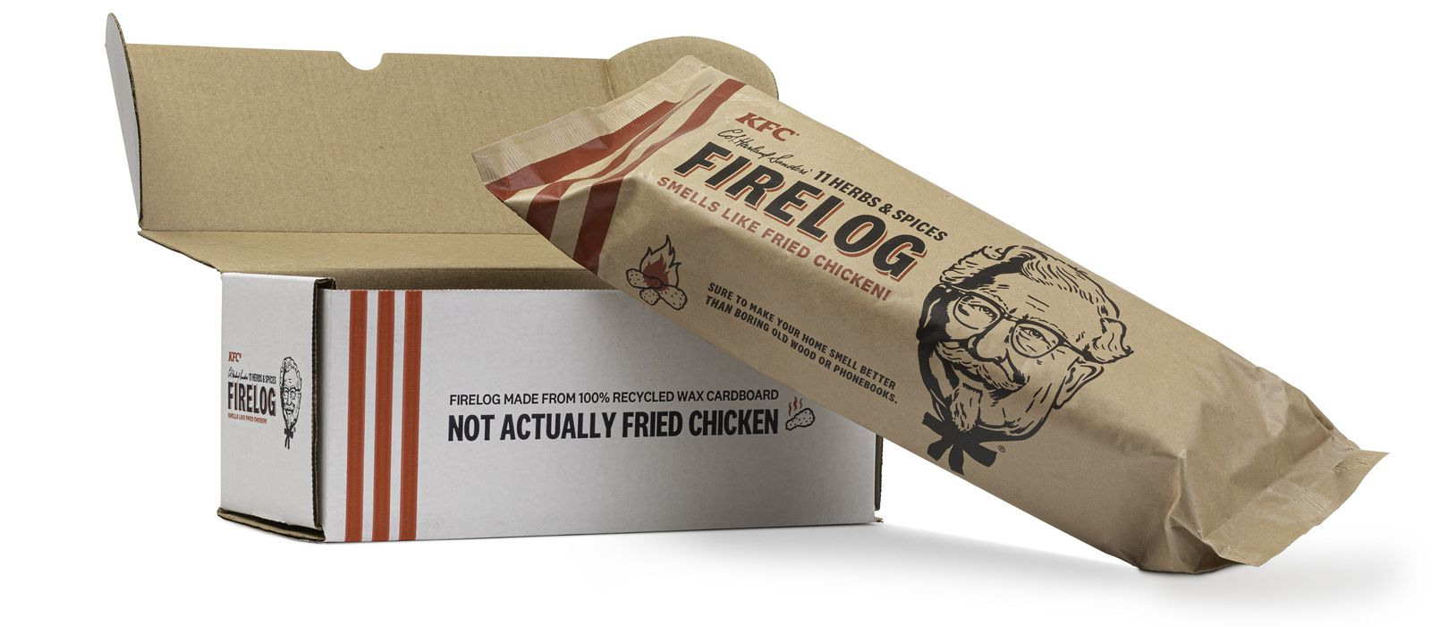 KFC's Famous Fried Chicken-Scented Firelogs Return for Sale Starting Today Exclusively at Walmart.com