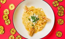 Casa Barilla Celebrates Lunar New Year With Spaghetti Salted Egg With Jumbo Shrimp Entrée