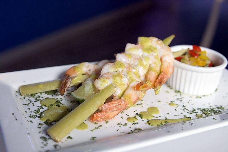 ICEBAR Orlando Fire Lounge Shrimp Skewers