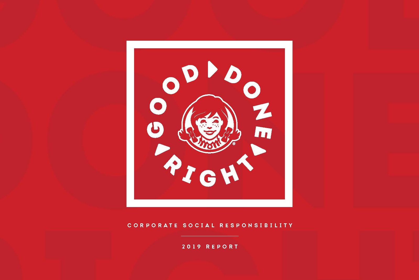 The Wendy's Company launches its 2019 Corporate Social Responsibility report; Announces implementation of new Animal Care Standards Program in 2020