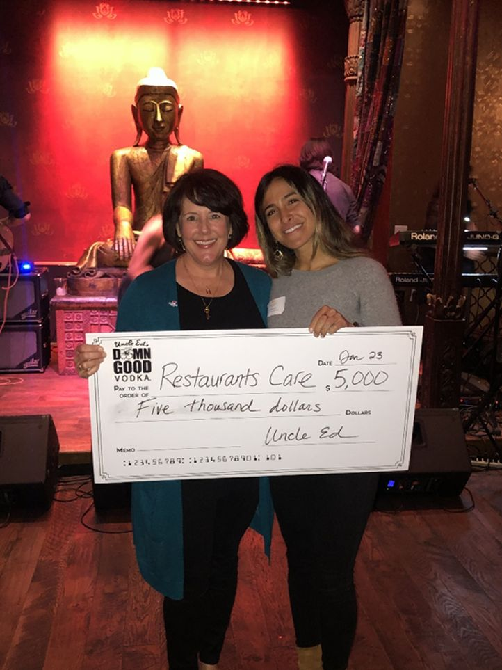 Alycia Harshfield, Executive Director of California Restaurant Association Foundation & Fay Behbehani, Co-Founder of Uncle Ed's Damn Good Vodka