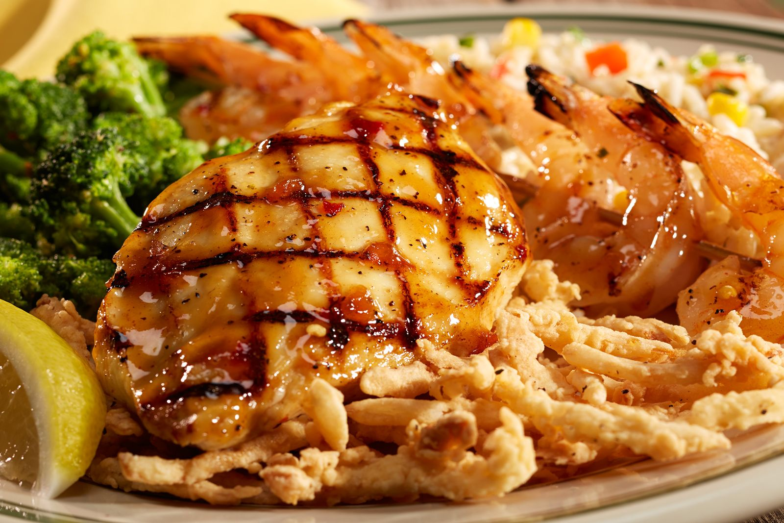 Bennigan's Paddy's Grilled Chicken & Shrimp
