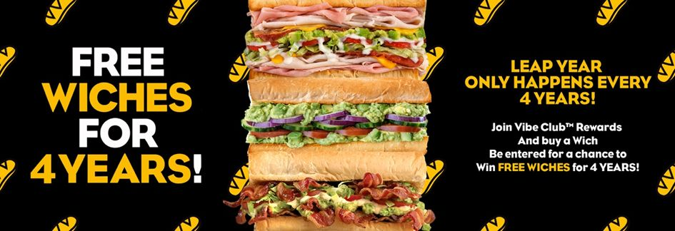 Which Wich Superior Sandwiches Celebrates Leap Day with Free Food for Four Years Promotion