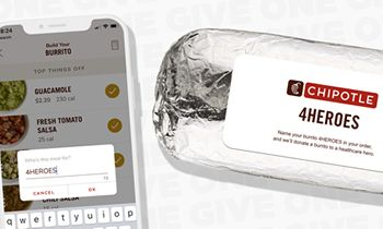 "Chipotle Launches ""4HEROES"" Buy One, Give One Program"