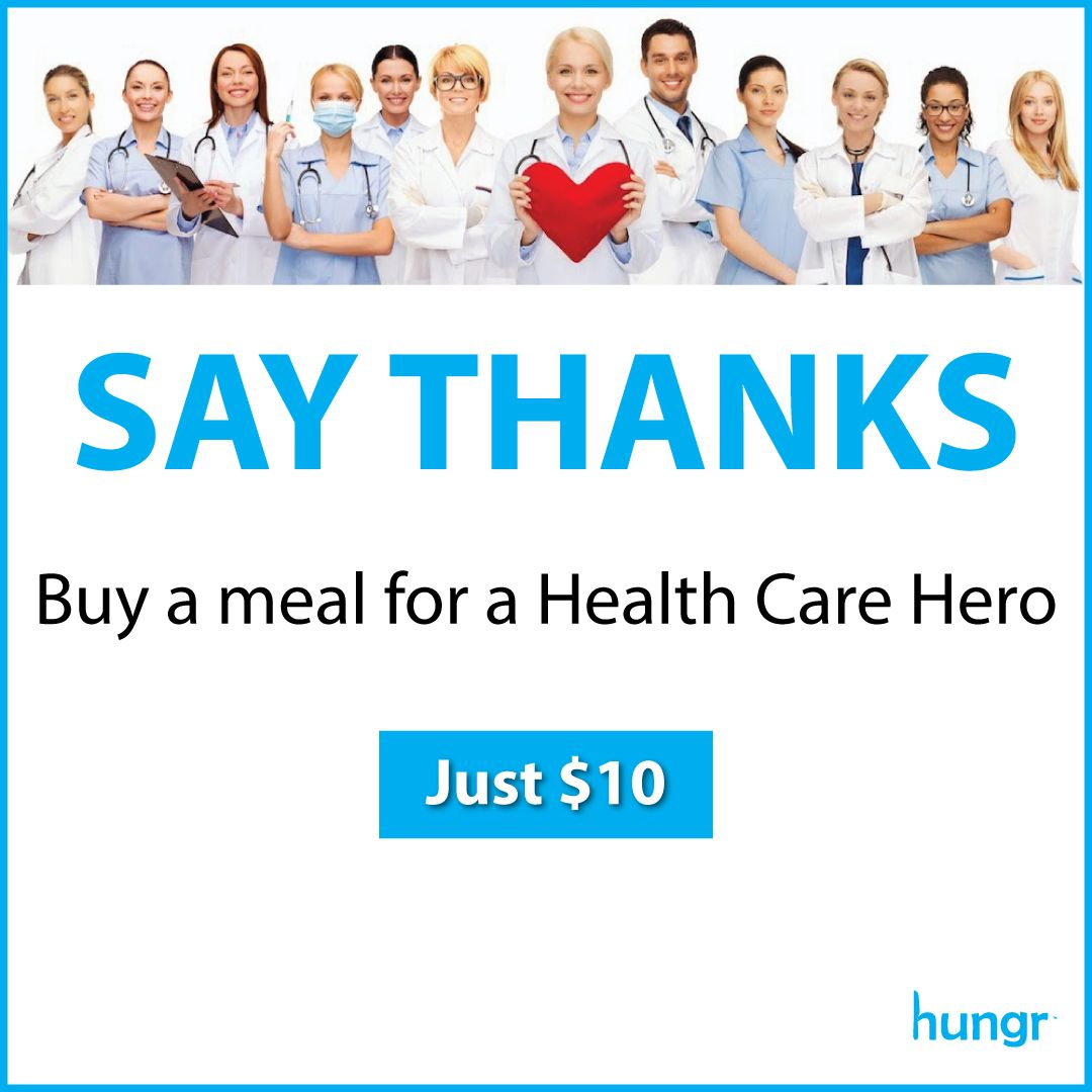 Hungr Announces Meal Program for Health Care Workers and First Responders