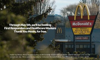 """McDonald's Celebrates Healthcare Workers and First Responders with Free """"Thank You Meals"""""""