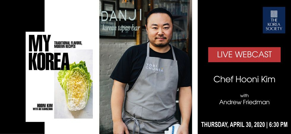 Renowned Korean Chef to Discuss New Book on Free Live Webcast