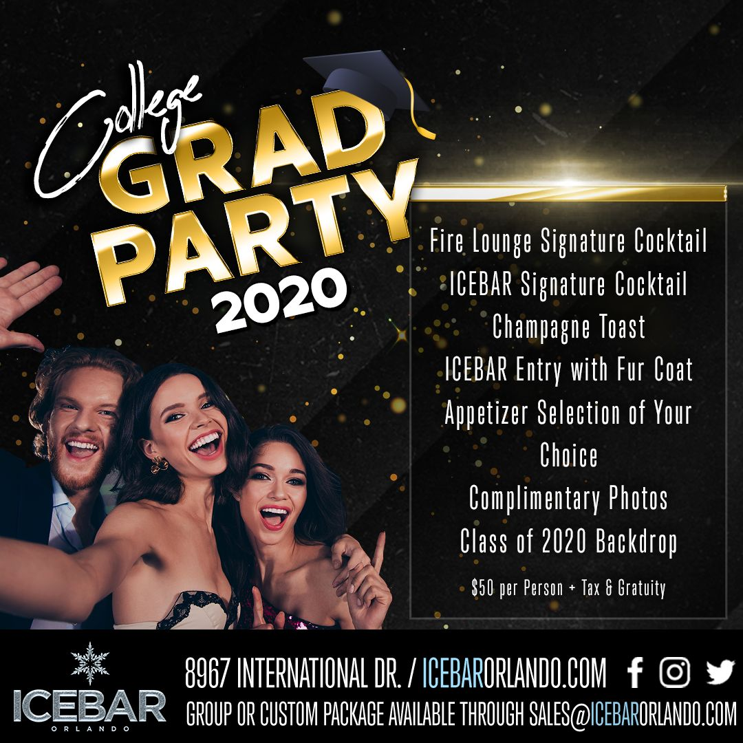 ICEBAR Orlando Celebrates The Class Of 2020 With Special Prom And Grad Packages