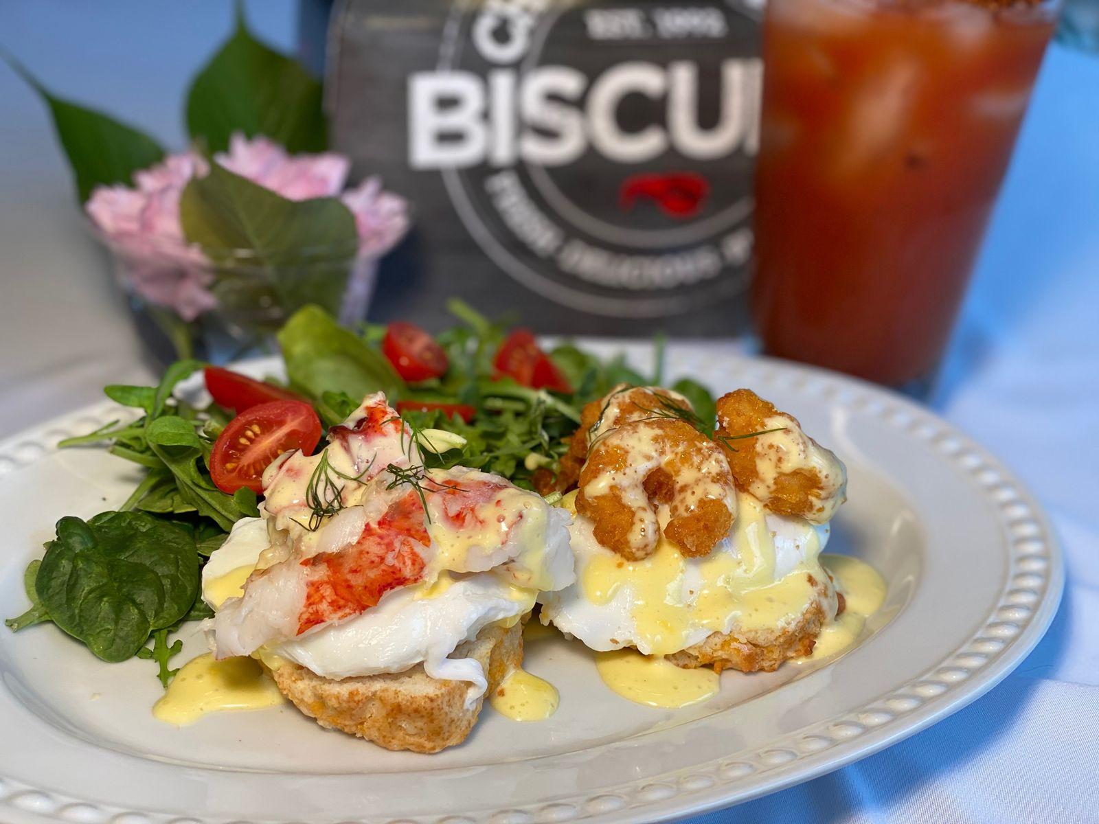 Red Lobster Cheddar Bay Biscuit Benedict