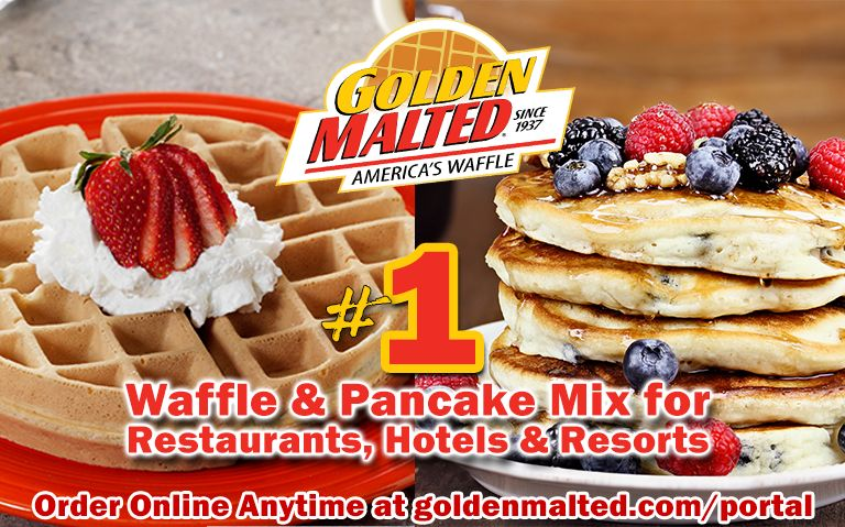 Serve America's #1 Waffles and Pancakes - Golden Malted Makes it Quick and Easy
