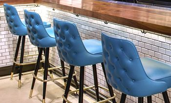 American Made Upholstered Bar Stools