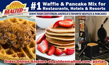 #1 Waffle & Pancake Mix Choice for Restaurants – Golden Malted Makes it Quick and Easy