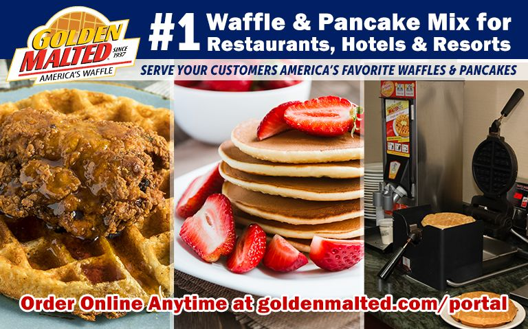 #1 Waffle & Pancake Mix Choice for Restaurants - Golden Malted Makes it Quick and Easy