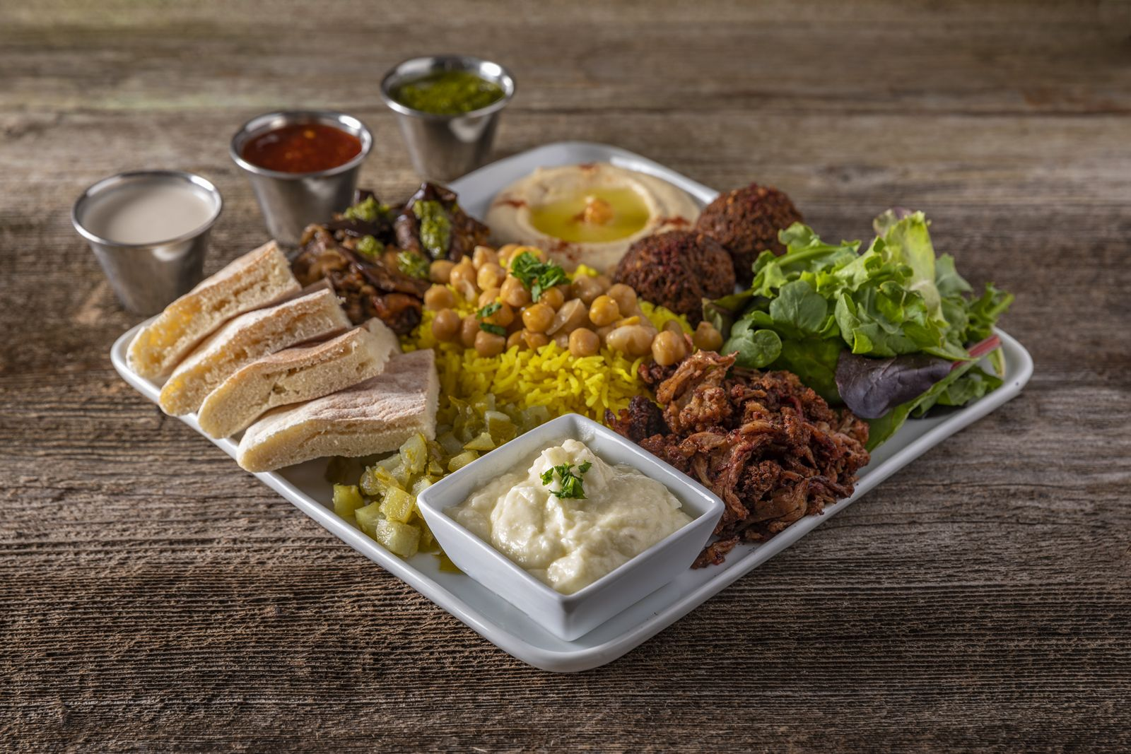 SAJJ Mediterranean has launched three new, pre-designed SAJJ Plates at all locations across California.