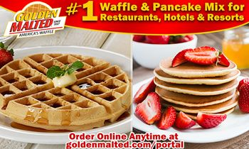 Serve America's #1 Waffles & Pancakes – Only with Golden Malted