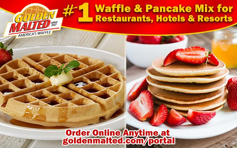 Serve America's #1 Waffles & Pancakes - Only with Golden Malted