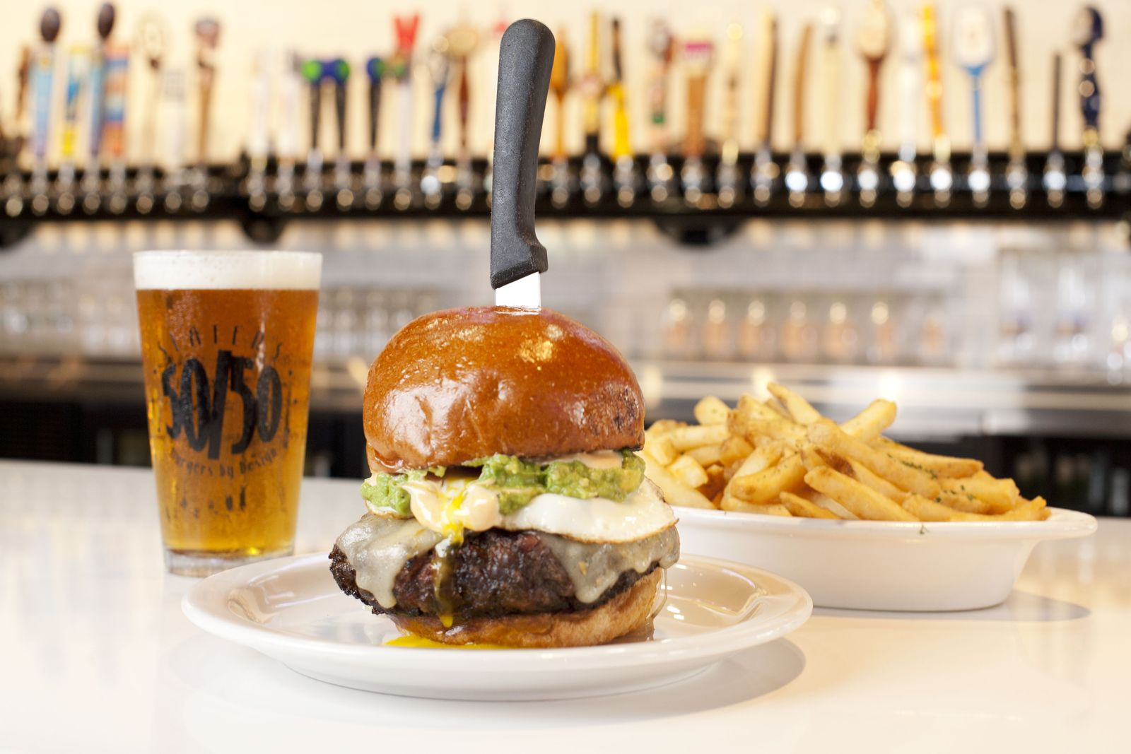 Slater's 50/50, the nationally recognized burger concept known for its ambitiously creative menu, has announced that its first Santa Clarita location will open at Westfield Valencia Town Center on Thursday, June 18.