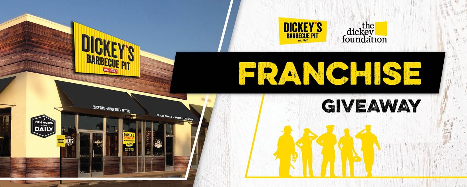 Be Your Own Pit Boss! Dickey's Barbecue Pit Announces Franchise Fee Giveaway For First Responders, Active Military, and Veterans