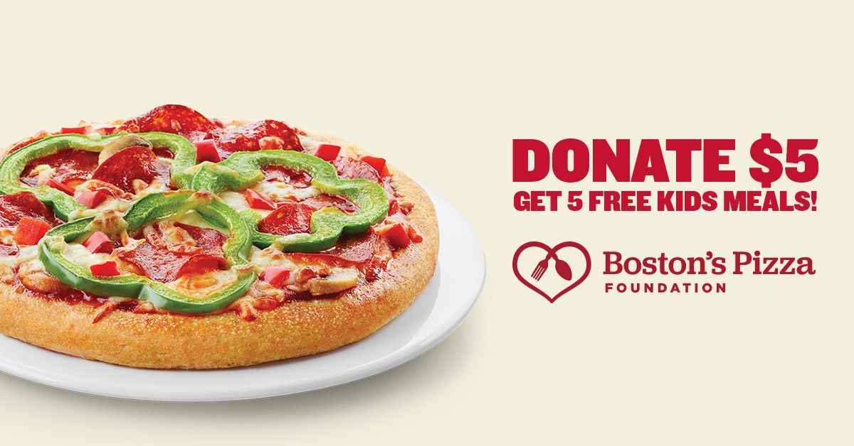Boston's Pizza Restaurant & Sports Bar Seeks to End Childhood Hunger in America while Giving Guests Much-Needed Relief