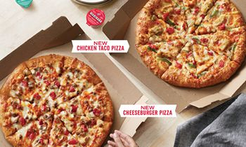 Designed for Delivery: Domino's Introduces New Chicken Taco and Cheeseburger Pizzas