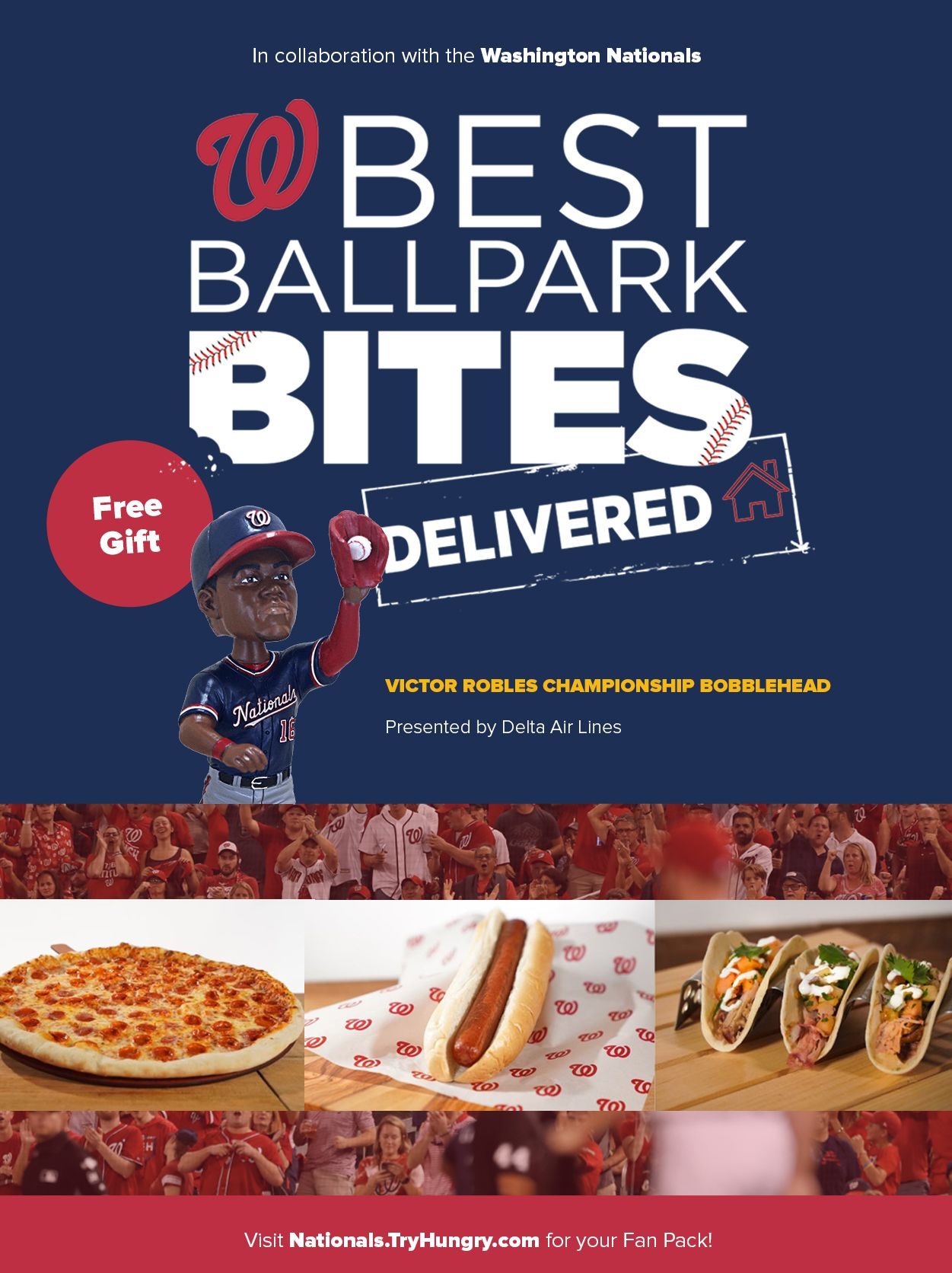 HUNGRY Brings Baseball Fans a Taste of the Ballpark Through Its Game Day Deliveries in the Nation's Capital