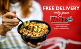 WaBa Grill Offers Free Delivery Through End of Year
