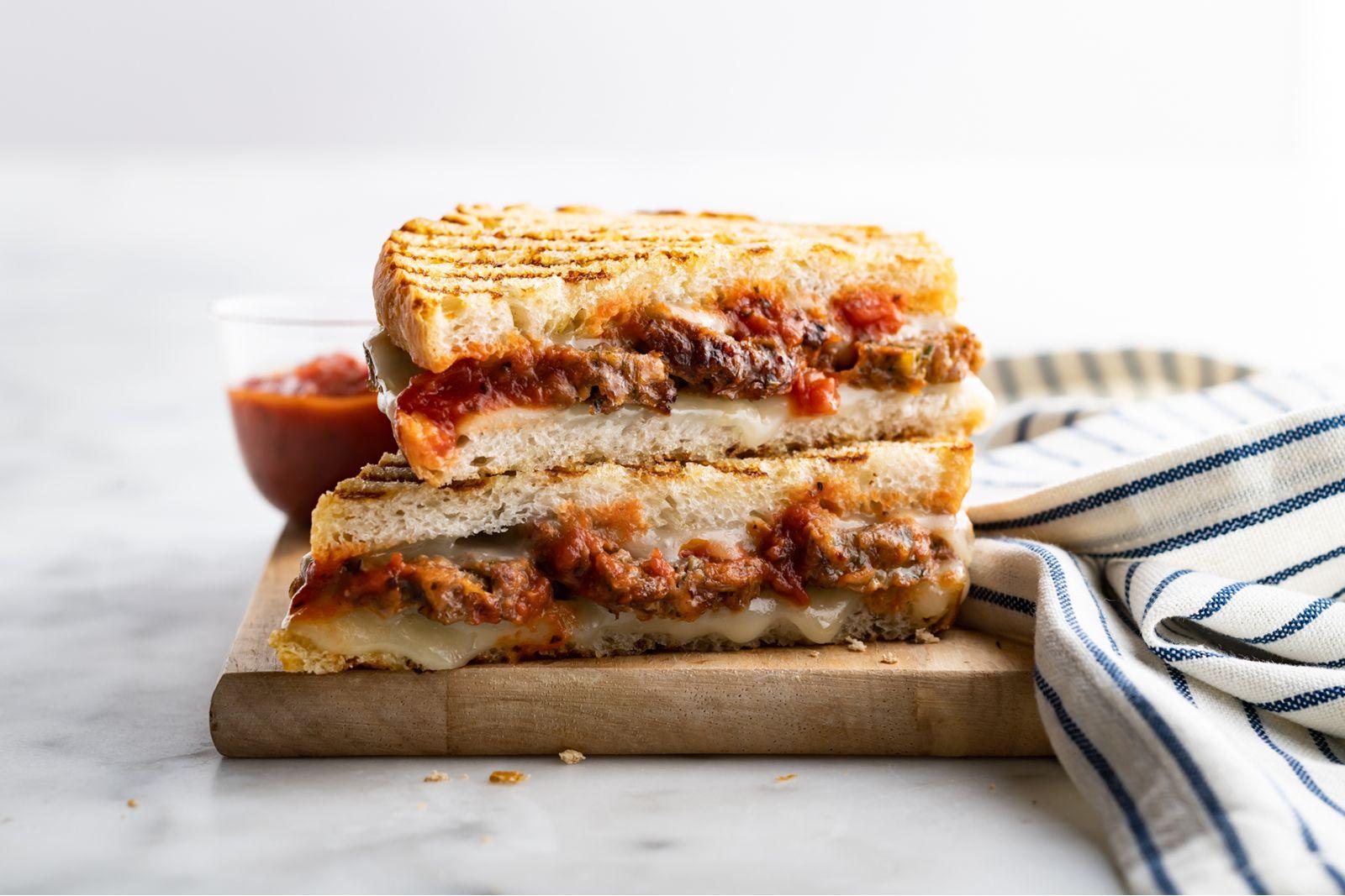 Corner Bakery x Beyond Meat Meatball Panini