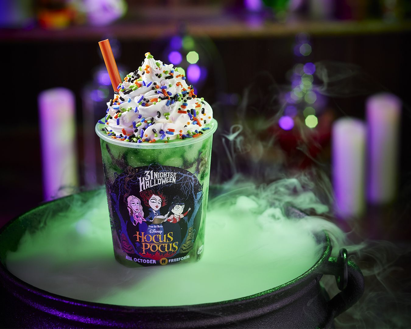 Freeform and Carvel Ice Cream Create Hocus Pocus Shake for 31 Nights of Halloween. Credit: Carvel