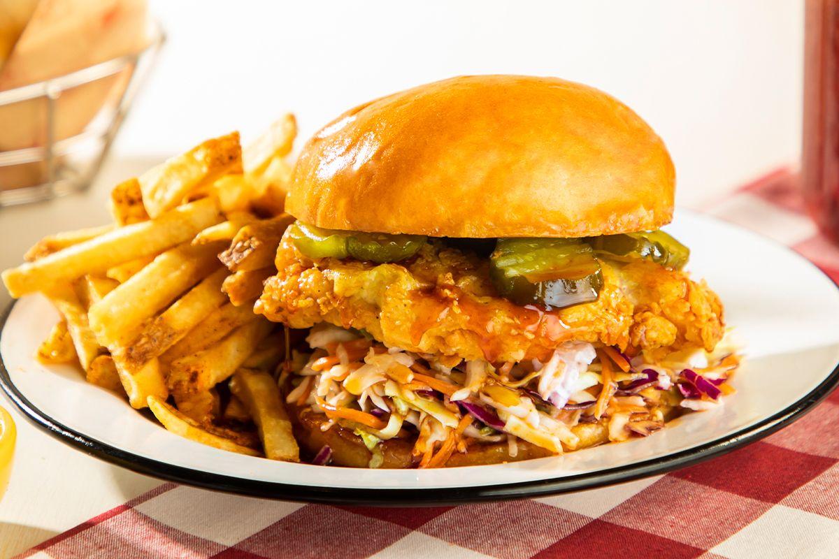Lucille's Smokehouse Bar-B-Que Crispy Hot-Honey Chicken Sandwich
