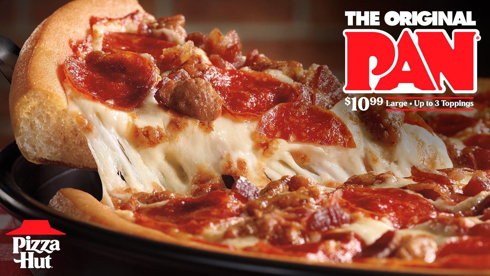 Pizza Hut Serves Up Its Often Imitated, Never Duplicated Original Pan Pizza At An Unbeatable Price