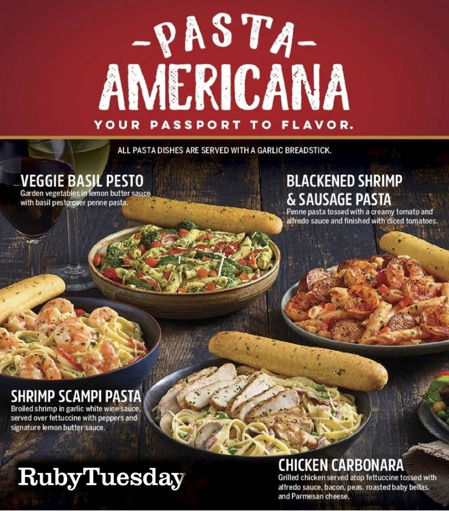 Ruby Tuesday Dishes Out New Pasta Americana Recipes