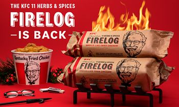 KFC Is Ready To Ignite Your Holiday Season With The Return Of Its Fried Chicken-Scented Firelogs