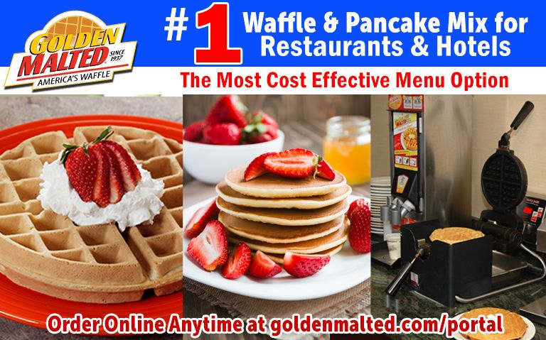 #1 Waffle & Pancake Mixes for Restaurants & Hotels - Golden Malted Makes it Easy